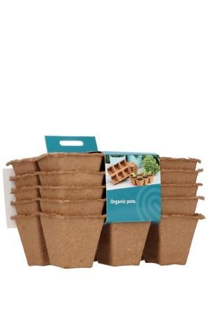 Biodegradable pots 6x6cm 5...