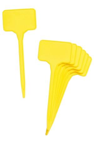 Gele steeketiketten 12cm -...