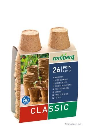 Round cellulose pots 6cm -...