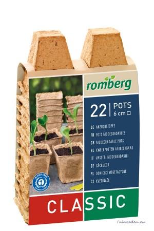 Square cellulose pots 6cm -...