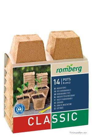 Square cellulose pots 8cm -...