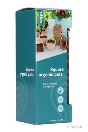 Peat pots 6x6cm square...