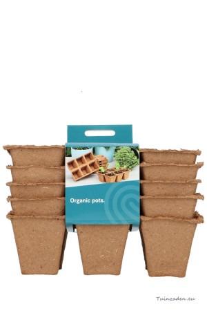 Biodegradable pots 4x4cm 6...