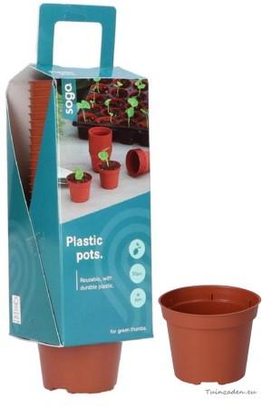 Plastic 6 cm potjes - 30...