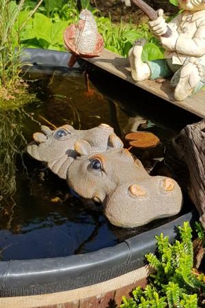 Nijlpaard met Jong 33cm -...
