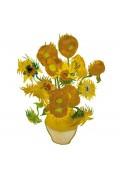 Van Gogh Zonnebloemen - Flat Flower Raamsticker