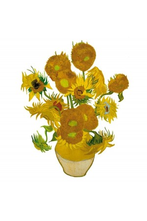Van Gogh Sunflowers - Flat Flowers