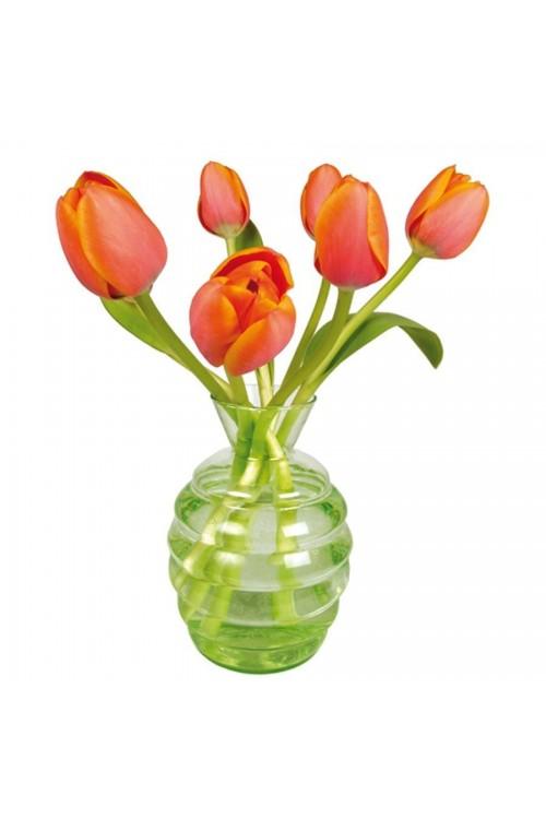 Oranje Tulpen - Flat Flower Raamsticker