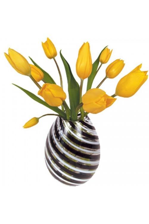 Gele Tulp - Flat Flower Raamsticker