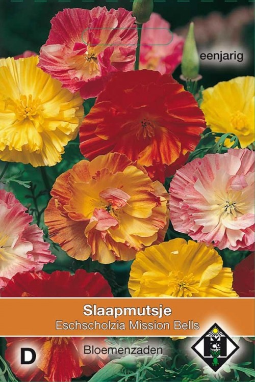 Mission Bells California Poppy - Eschscholzia seeds