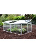 Low Greenhouses 4 windows - Safety Glass  - Aluminum
