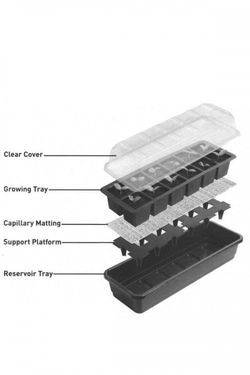 12 cell Self Watering Propagator - G166