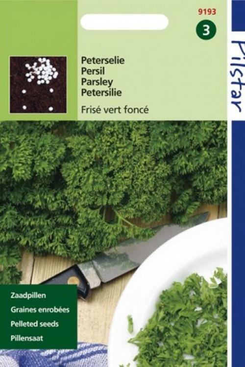 Frisé vert Foncé Parsley - Parsley Pellet seeds
