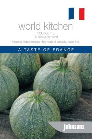 Courgette - Zucchini De Nice a fruit rond