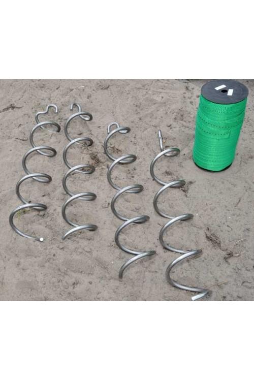 Spiraal grondankers set van 4 stuks