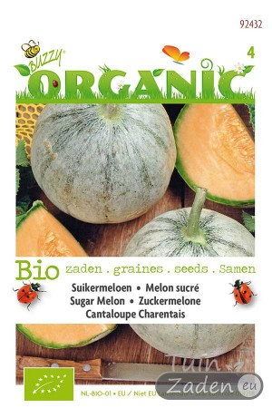 Organic seeds Cantaloupe Charentais Sugar Melon