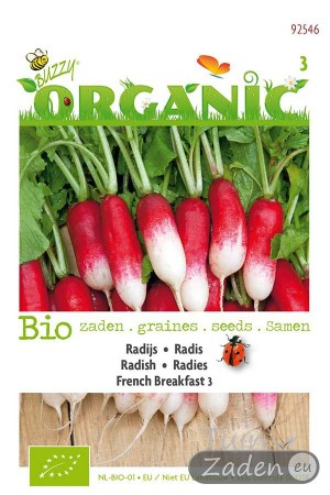 Organic seeds French Breakfast 3 Radish