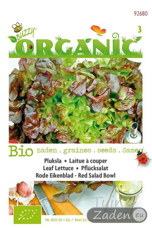 Organic seeds Red Salad Leaf Lettuce