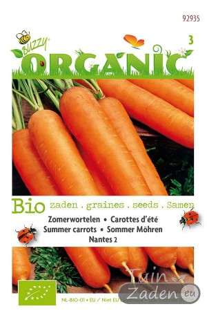 Organic seeds Nantes 2 Summer Carrots
