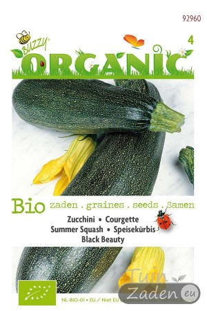 Biologische zaden Black Beauty Courgette
