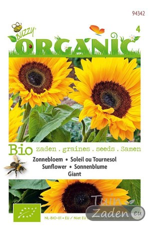 Biologische zaden Giant Zonnebloem