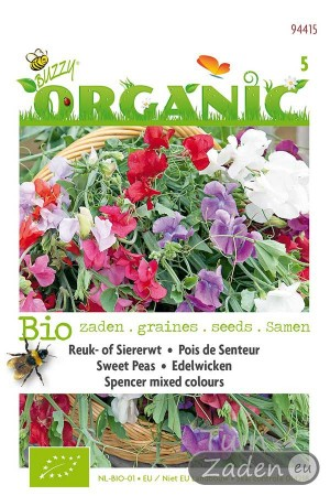 Organic seeds Spencer Mixed Sweet Peas