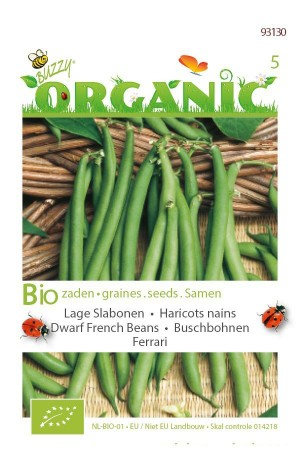 Organic seeds Ferrari Dwarf French Beans