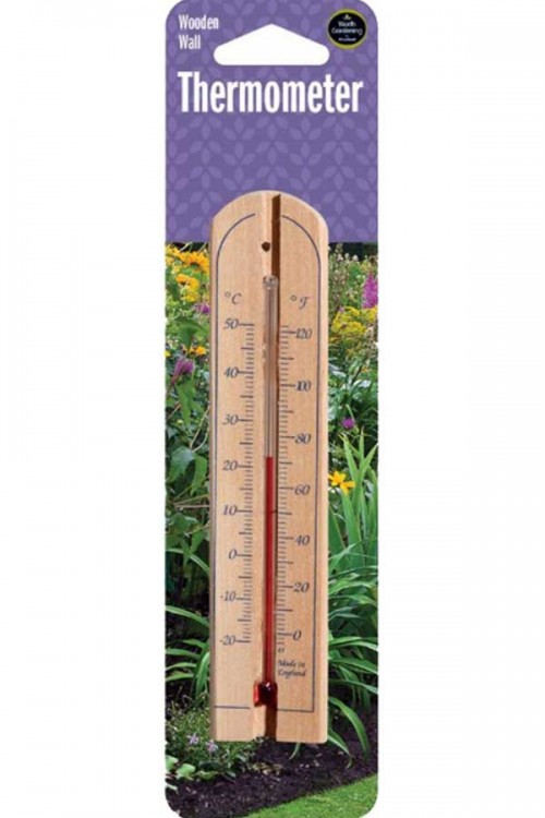 Measuring Equipment Wall Wooden Thermometer