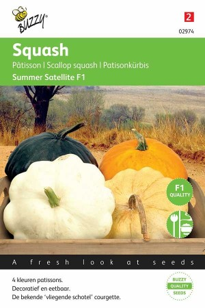 Summer Squash Patisson Colour Mix - Summer Satellite F1