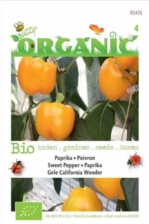 Biologische zaden Gele California Wonder Paprika