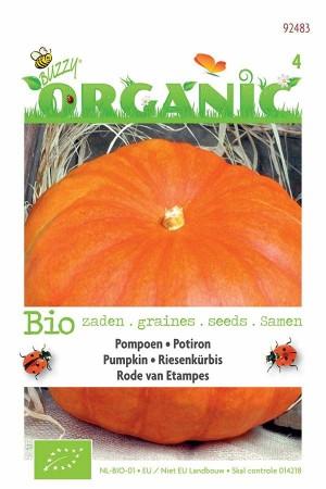 Biologische zaden Etampes oranje-rode Pompoen