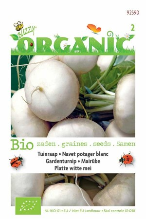 Biologische zaden Platte Witte Mei Tuinraap