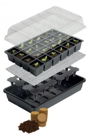Kweekkasjes sets 24 cell Bevloeiing Zaaikasje met 24 tabletten - G180