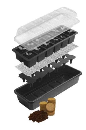 Kweekkasjes sets 12 cell Bevloeiing Zaaikasje met 24 tabletten - G179