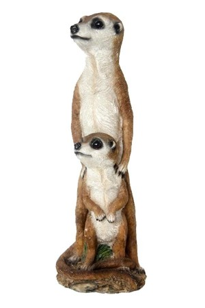Animal and Pondfigures Meerkat with baby 35cm