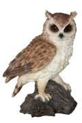 Animal and Pondfigures Owl on trunk 27cm