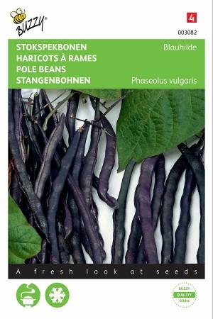 Blauhilde paarse stokspekbonen