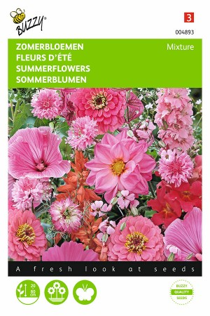 Rood en roze zomerbloemen zaden