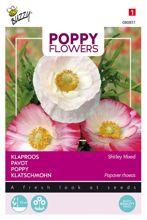 Shirley Poppy rhoeas seeds
