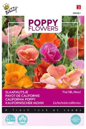 Thai Silk California Poppy...