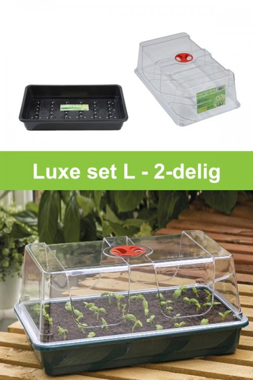 Large high dome propagator 2-piece grow kit  G19