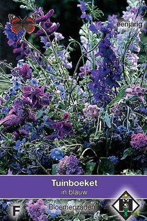 Plukmengsel blauwe bloemen...