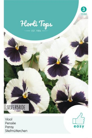 Silverbride - Pansy seeds