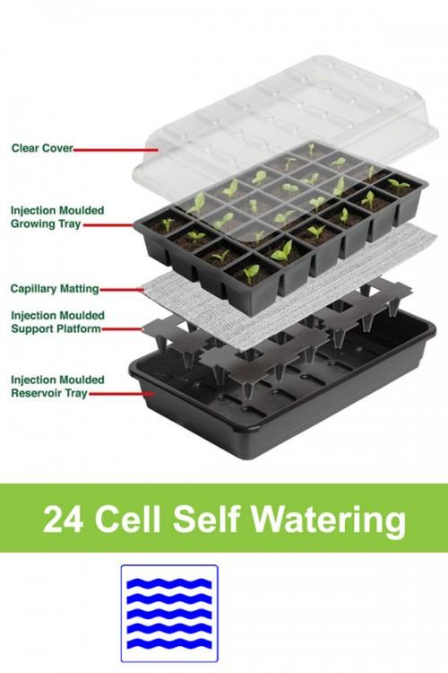 24 cell automatische bewatering zaaikasje G165