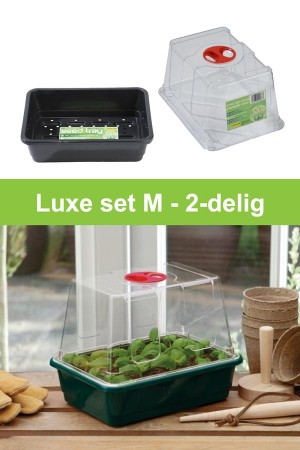 Medium high dome propagator 2-piece grow kit G20