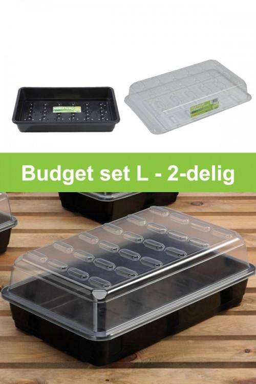 Budget zaaikasje L kweekset 2-delig G135