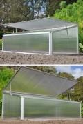 Viola aluminum greenhouse