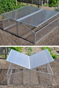 Silver Thyme aluminum greenhouse
