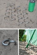 Spiral ground anchors set of 4 pieces