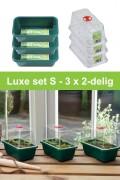 Small high dome propagator grow kit 3 x 2-piece G85